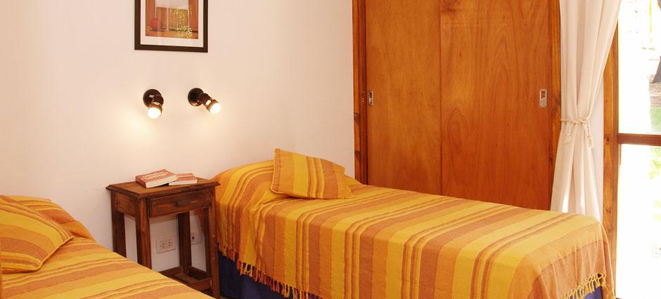 Cabañas de dos dormitorios en planta baja (unidades de 85 m2)